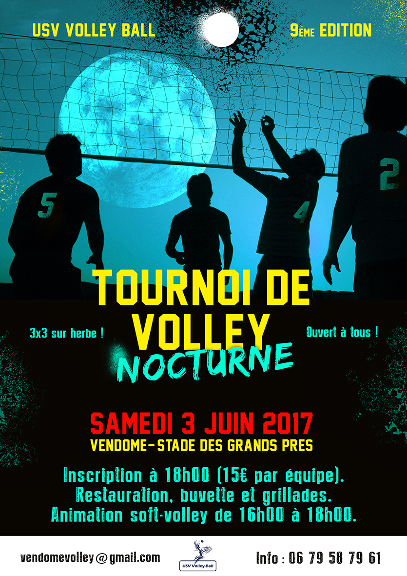 Tournoi Vendome 2017 Nocturne volley Flyer web